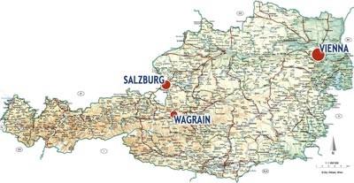 Wagrain Map