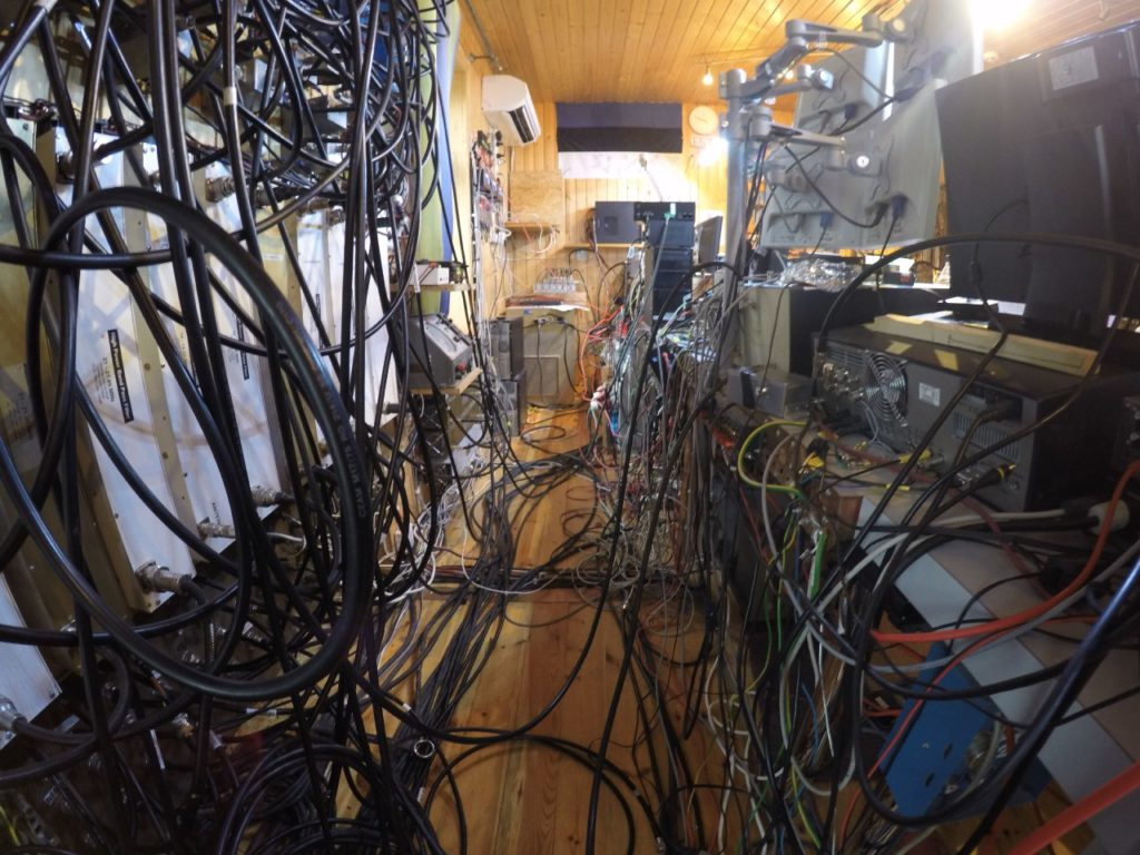 Connections between the numerous pieces of equipment